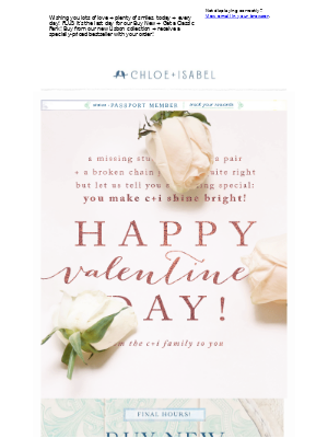 ❤️Happy Valentine's Dayfrom Your C+I Family❤️