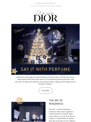 Dior UK - Scented creations by Maison Christian Dior