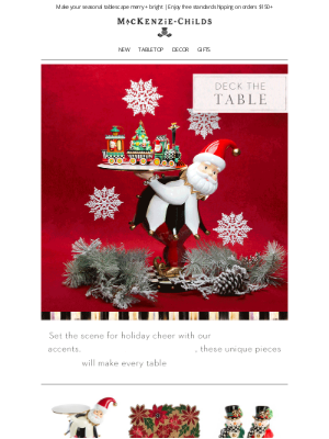 MacKenzie Childs LLC - Deck the table with festive favorites!