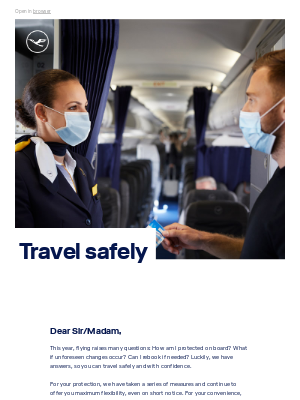 Lufthansa - Safe traveling: Answers to your questions