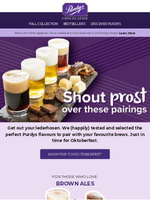 Purdys Chocolatier - Beer and Chocolate? 🍺❤️🍫