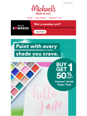 Michaels Stores - Ooooh, pretty! You're going to love these *delicious* paint shades. 🍉