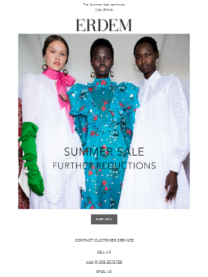 Summer Sale | Further Reductions