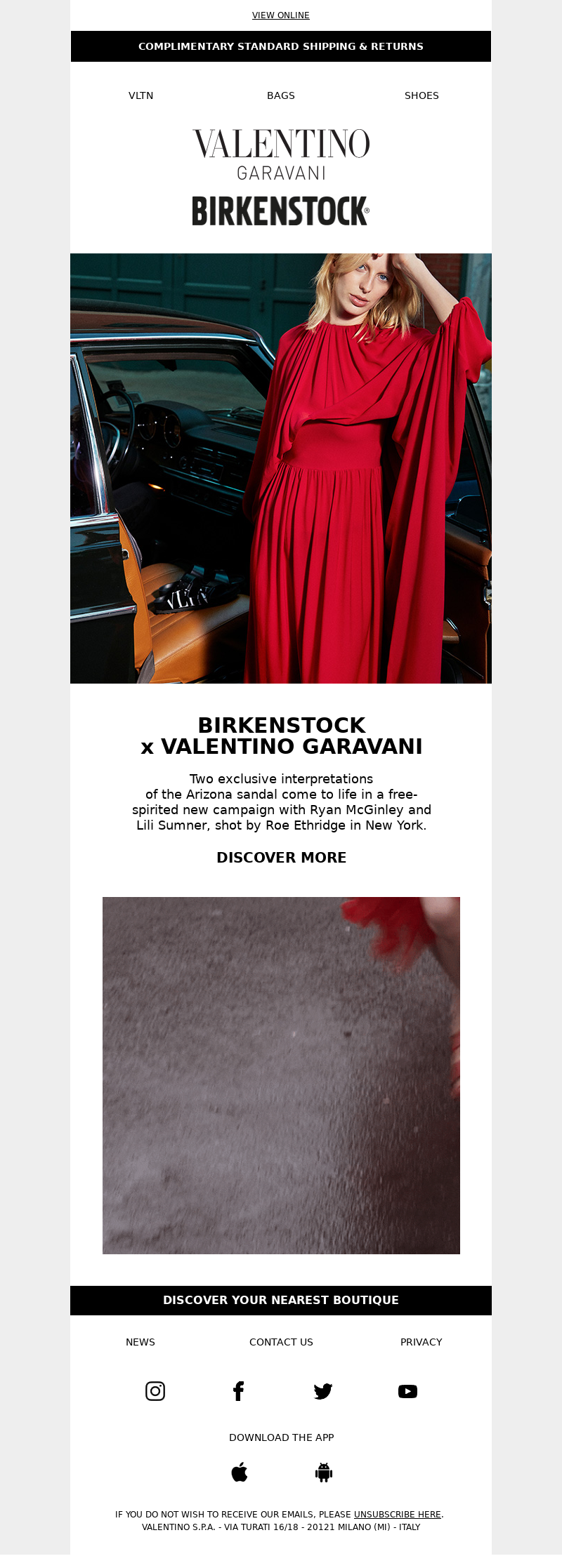 Valentino - VALENTINO IN COLLABORATION WITH BIRKENSTOCK