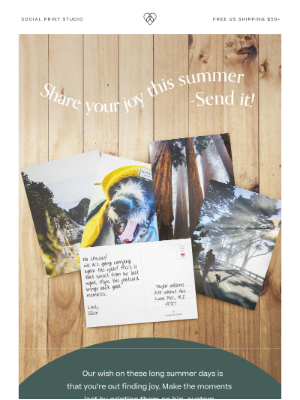 Social Print Studio - Your best summer events turned into custom postcards