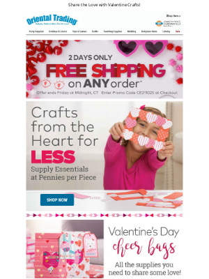 Oriental Trading Company - HURRY! Free Shipping on ANY Order!