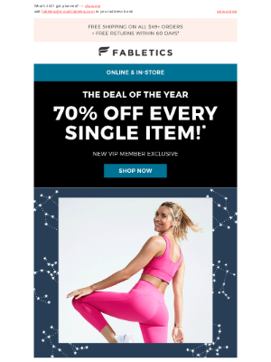 Fabletics - Your January horoscope leggings in size XL