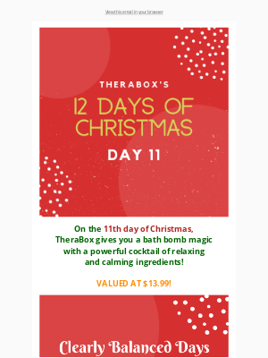 TheraBox - DAY 11 of TheraBox's 12 Days of Christmas Freebies! ⛄