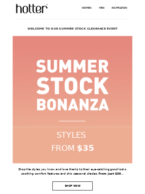 Don't miss out on our Summer Stock Bonanza
