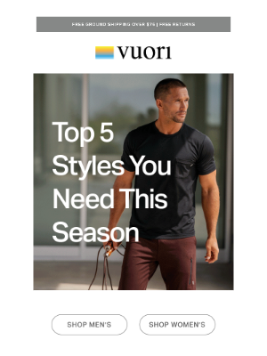 Vuori - Don't miss these favorites for fall