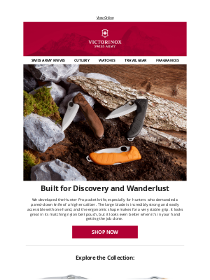 Victorinox - Built for Discovery and Wanderlust | The Hunter Pro Collection