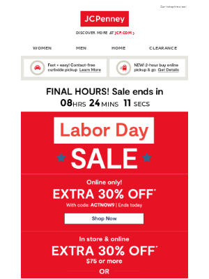 JCPenney - EXTRA 30% OFF ENDS S👀N