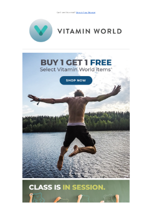 Vitamin World - Buy 1 Get 1 Free on Vitamin World Products Starts… Now!