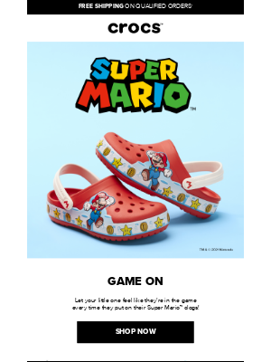 Crocs - Super Mario™ is here for your kiddo!