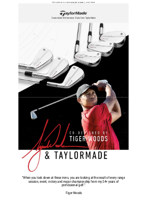 Built for Tiger, Fit for You