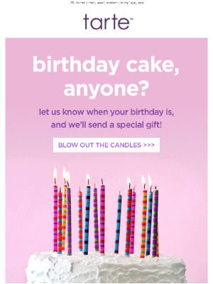 Tell us your birthday for a sweet treat…