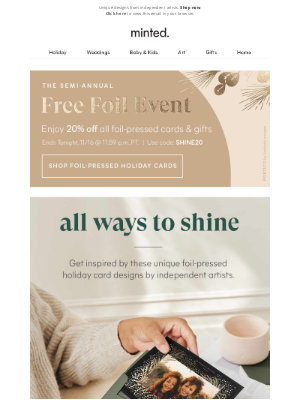Sample Email Marketing Campaign- Minted