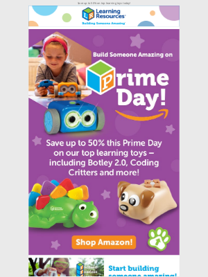 Learning Resources - Amazon Prime Day: Save up to 50%!