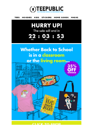 The back-to-whatever sale is on!