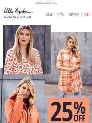 Ulla Popken USA - Final day to save 25% on NEW ARRIVALS