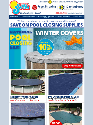 In The Swim - Save on pool closing supplies!💸