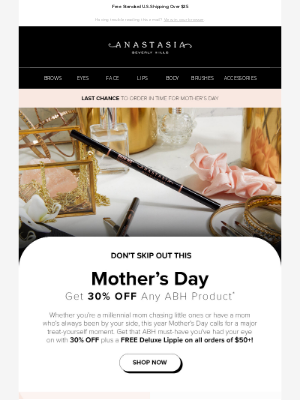 Anastasia Beverly Hills - ICYMI: 30% Off An ABH Product