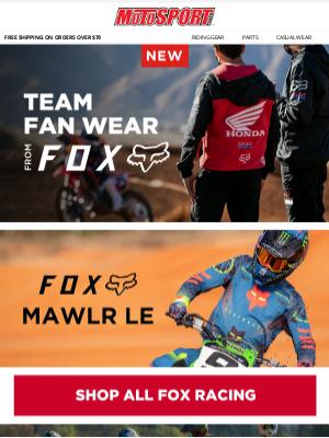 MotoSport - New Team Fan Wear from Fox