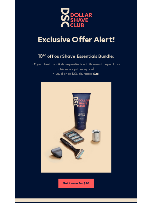 Dollar Shave Club - Here's your first exclusive discount!