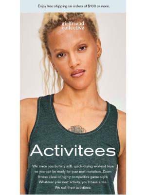 Girlfriend Collective - Tees for activities