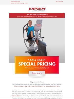 Johnson Fitness - Fall Sale🍂Save on Octane XR6 Seated Elliptical