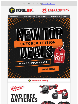 Toolup - October Price Cuts Now Live - Up to 63% Off