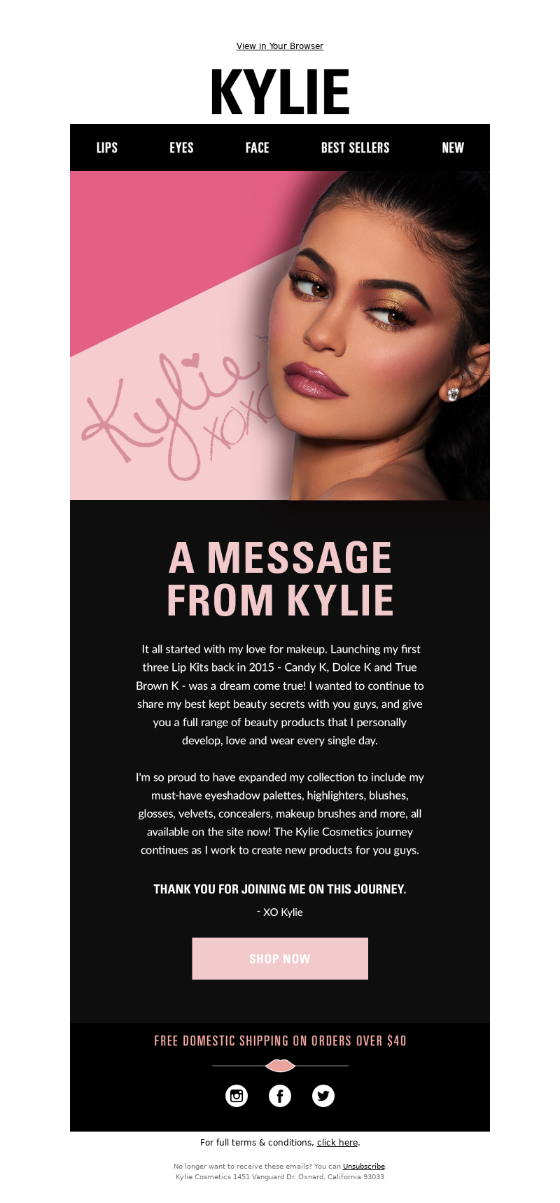 Kylie Cosmetics - 💕 A Message From Kylie… 💕