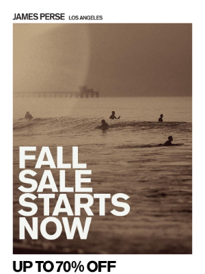 James Perse Ent. - Starts Now: Up To 70% Off Fall Sale