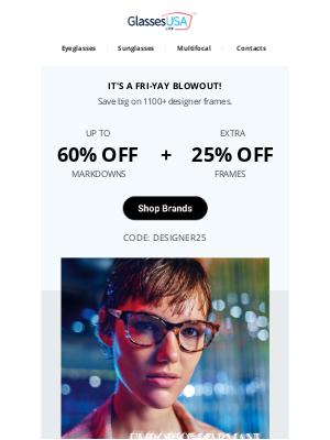 GlassesUSA - ✅ It's approved: HUGE savings on designer frames!