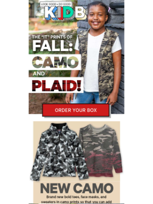 KIDBOX - NEW CAMO & PLAID Styles Are Here!