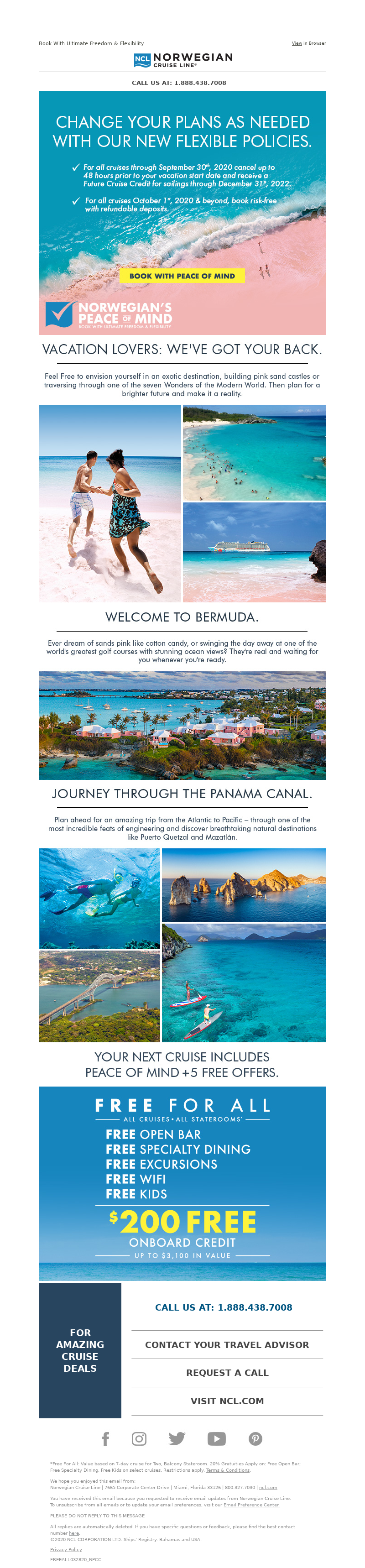 Book With Ultimate Freedom & Flexibility. View in Browser Norwegian Cruise