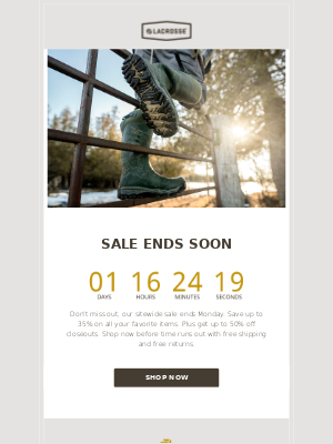 LaCrosse Footwear Inc - Only 2 Days Left To Save