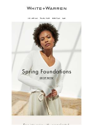 White + Warren - The Spring Wardrobe Essentials