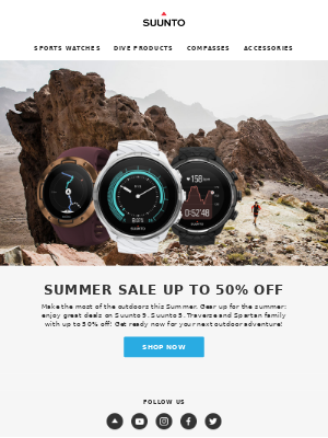 Summer Sale up to 50% Off now!