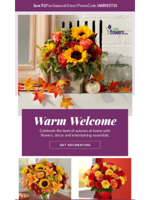 1-800-Flowers - Your Fall Decorating Guide