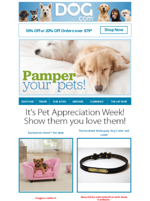 dog - 20% Off Your Order... Get In On the Savings!