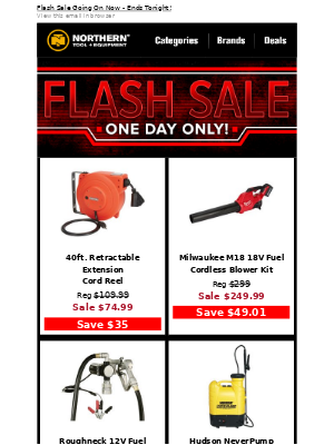 1-Day Only: Flash Sale Starts Now!