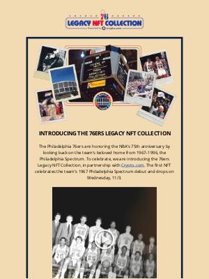 Philadelphia 76ers - Introducing the Philadelphia 76ers Legacy NFT Collection