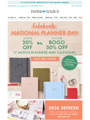In Stores & Online! SAVE on Planners!