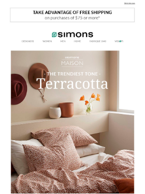Simons Canada - Fill your decor with terracotta (you gotta!)