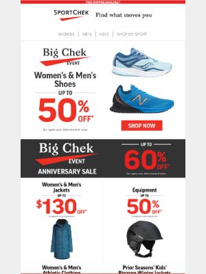 Sport Chek (CA) - Big Chek Event Deals On Shoes + More