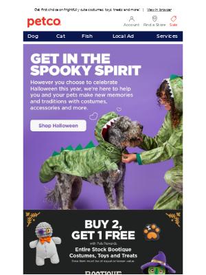 Petco - BOO! Halloween is creeping up 👻🐾