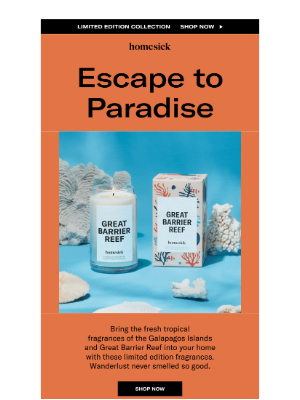 Homesick Candles - Your dream vacation is closer than you think