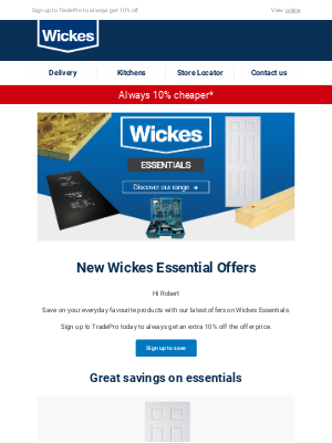 Wickes UK - New Wickes Essentials offers just landed
