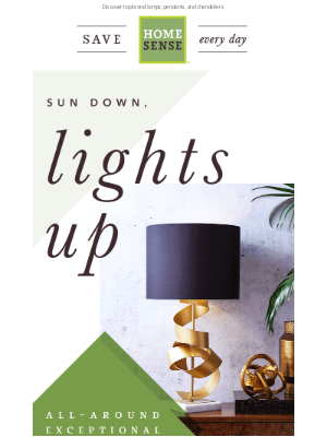 HomeGoods - Beautiful lights. Bright prices.